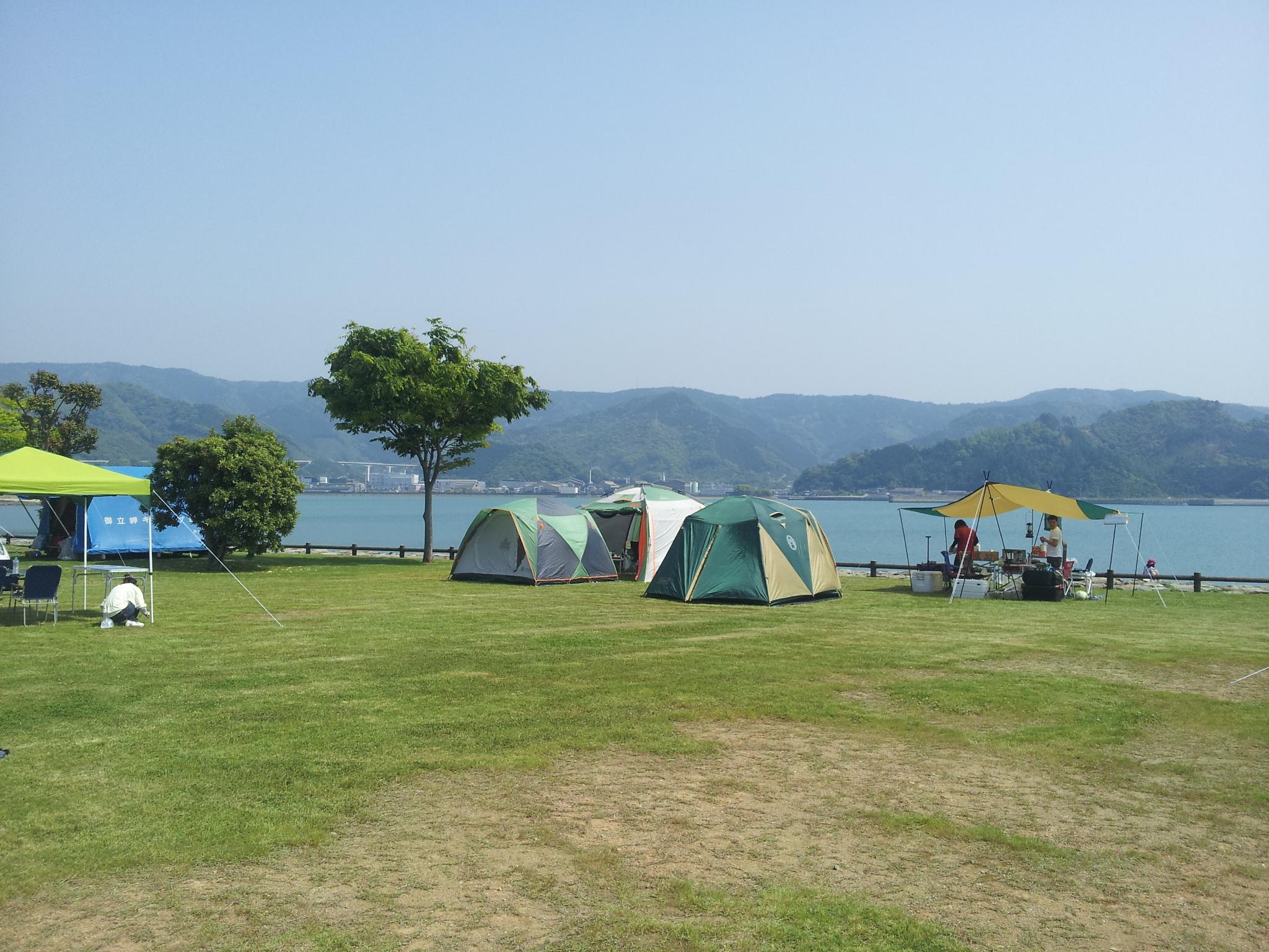 御立岬公園 キャンプ場